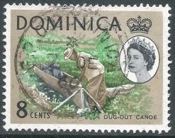Dominica. 1963-65 QEII. 8c Used. Upright Block CA W/M SG 168 - Dominica (...-1978)