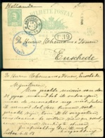 Portugal 1903 Postkaart Naar Enschedé - Entiers Postaux