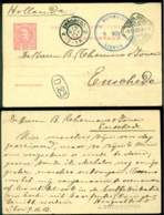 Portugal 1903 Postkaart Naar Enschedé - Interi Postali