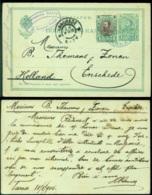 Bulgarije 1904 Postkaart Naar Enschedé - Entiers Postaux