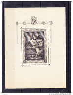 CROATIE YT BL 5 * MH But Stamp ** MNH. (4R7) - Croatie