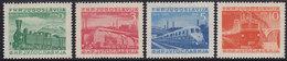 Yugoslavia 1949 Railway Centenary In Serbia, MNH (**) Michel 583-586 - 1945-1992 Socialist Federal Republic Of Yugoslavia