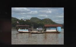 LAOS Luang Prabang Car Ferry Boat Bac Bateau Ship Schiff - Laos