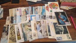 LOT 482618 TIMBRE DE FRANCE PREMIER JOUR 37 CARTES POSTALES 1960 PORT A 2 EUROS BLOC - Collections