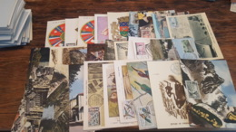 LOT 482619 TIMBRE DE FRANCE PREMIER JOUR 27 CARTES POSTALES 1960 PORT A 2 EUROS BLOC - Collections