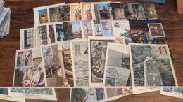 LOT 482629 TIMBRE DE FRANCE PREMIER JOUR 27 CARTES POSTALES 1963 PORT A 2 EUROS BLOC - Collections