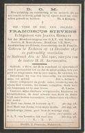 STEVENS Franciscus °1841 Ekeren + 1920 Stabroek - E. Hermans Doodsprentje Image Mortuaire  Funeral - Godsdienst & Esoterisme