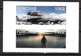 Féroé 2019 Série Neuve Adhésive Issue Du Carnet Lacs De Eidisvatn Et Leynavatn - Färöer Inseln