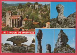 CP-34- MOURÈZE - Cirque Dolomitique- Le Village, Le Château, Le Sphinx, La Tortue, Le Meunier, L'Aiguille *SUP* 2 SCAN- - Autres Communes