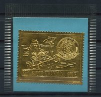 RC 14882 RWANDA TIMBRE EN OR - GOLD STAMP SPACE ESPACE DANS SA POCHETTE NEUF ** MNH TB - 1970-79: Ungebraucht
