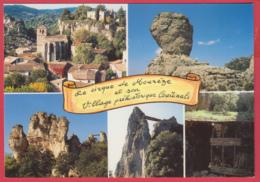 CP-34- MOURÈZE -Rochers Ruiniformes-- Le Village Préhistorique De COURTINALS *SUP* 2 SCAN- - Autres Communes