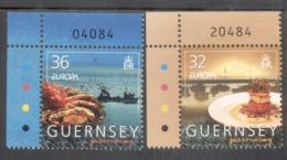 CEPT Gastronomie Guernsey 1045 - 1046 MNH ** Postfrisch - Europa-CEPT