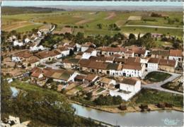 D57 - LAGARDE-LE PORT SUR LE CANAL DE LA MARNE AU RHIN-VILLAGE LORAIN -VUE AERIENNE-CPMS Dentelée Colorisée Grand Format - France