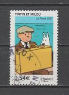 "FRANCE / 2007 / Y&T N° 4051 : ""Tintin"" (Tintin & Milou) - Oblitération 2007 07 06. SUPERBE ! - Frankrijk"