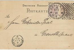 1885, Früher Hoster-Stp. , Ins Ausland, R!  , A2801 - Alemania