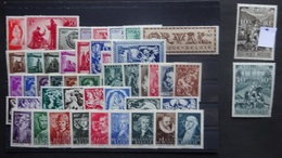 BELGIE 1943  Nr. 623 -624 / 625 - 630 / 631 - 640 / 641 - 646 /  647 - 652 / 653 - 660 / 661-69  Postfris ** CW  60,20 - Belgique