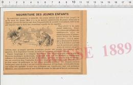 Presse 1889 Nourriture Allaitement Maman Et Bébé Lait Bouillie Hygiénique Alimentaire Du Docteur Delabarre 222N - Vieux Papiers