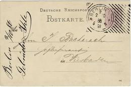1886, Hoster-Stp. Glasklar!  , A2802 - Alemania