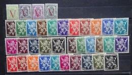 BELGIE 1944    Nr. 670 - 673 + 674 - 689 A   Postfris **  CW 40,60 - 1951-1975 Heraldic Lion