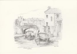 Postcard - Art - Bryan Lewis - Springs Canal Skipton No Card No.. Unused Very Good - Postcards