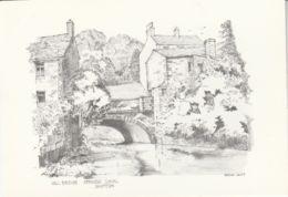 Postcard - Art - Bryan Lewis - Mill Bridge - Springs Canal Skipton No Card No.. Unused Very Good - Postcards