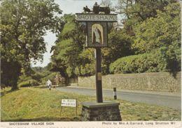Postcard - Shotesham Village Sign - Photo By Mrs A. Garrard No Card No.. Unused Very Good - Postcards