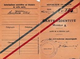 WW1 - DELME (Moselle) Territoire Libéré - CARTE D'IDENTITÉ - - Documentos Históricos