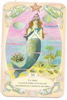 Carte De Jeu, Sirène, Fond Marin, Coiffure Coquillage - Algues, Flore, Poissons, étoile De Mer - Autres Collections
