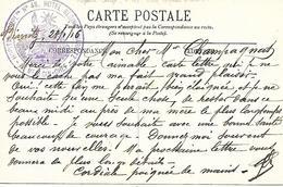 64- Cachet Hôpital Comp. N°48 -Hôtel Régina à Biarritz Sur CP De L'Hôtel Devenu Hôpital En 14/18 - Marcofilie (Brieven)
