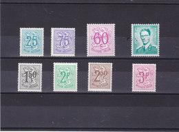 BELGIQUE 1966-1970 Série Courante  Yvert 1368-1369 + 1370a-1371 + 1443 + 1518 + 1544-1545 NEUF** MNH - Belgio