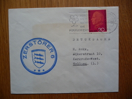 (2) Schiffpost Shipmail DEUTSCHE SHIFFPOST ZERSTÓRER 6 1967 - Boten