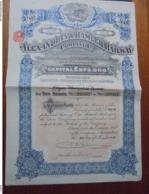 EGYPTE - ALEXANDRIE 1927 - THE ALEXANDRIA AND RAMLEH RAILWAY CIE - TITRE DE 10 £ - BELLE VIGNETTE - Actions & Titres