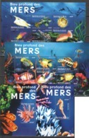 PK070 DE GUINEE FISH & MARINE LIFE DES MERS 2KB+2BL MNH - Meereswelt