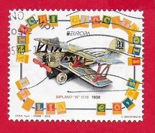 ITALIA REPUBBLICA USATO - 2015 - Europa - Biplano W 1218 - € 0,95 - S. 3568 - 6. 1946-.. Republic