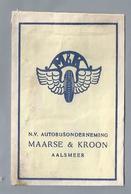 Suikerzakje.- AALSMEER. M & K. MAARSE & KROON. Autobusonderneming. Sugar Bag. Embalage De Sucre. Zucchero. Zucker - Suiker