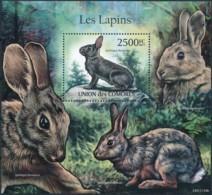 [39274]TB//**/Mnh-Comores 2011 - BL2240, Animaux, Les Lapins. - Conigli