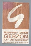 Suikerzakje.- AMSTERDAM. RESTAURANT TEAROOM GERZON. Kalverstraat 72. Sugar Bag. Embalage De Sucre. Zucchero. Zucker - Suiker