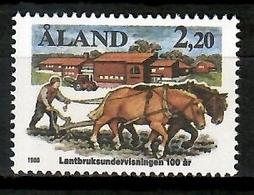 Aland 1988 / Agriculture Horses MNH Agricultura Caballos Pferde Landwirtschaft / Kj21  30-17 - Agriculture