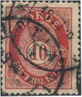 Norvège 1894. ~  YT 50 Par 2 - 10 S. Cor - Norvège