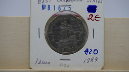 East Caribbean States 1 Dollar 1989 Km#20 - Caribe Oriental (Estados Del)
