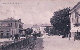 Italie, Aosta, Piazza Della Stazione, Attelages Diligence (2.5.1916) - Aosta