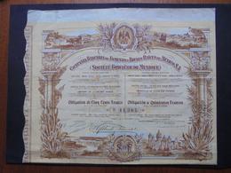 MEXIQUE - PARIS  1909 - CIE BANCAIRE DE FOMENTO ET BIENES RAICES DE MEXICO - OBLIGATION DE 500 FRS - ETAT VOIR DETAIL - Actions & Titres