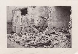PHOTO ORIGINALE 39 / 45 WW2 WEHRMACHT FRANCE STONNE LES RUINES APRES LA BATAILLE - War, Military