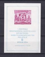 DDR - 1954 - Michel Nr. Block 10 - Postfrisch - 50 Euro - Neufs