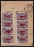 """LABERGEMENT SAINTE MARIE - DOUBS / 1919 """"PERMISSIONNAIRES DE GUERRE""""  SUR DOCUMENT / COTE 370.00 € COMPLET (ref 7678) - Fiscaux"""