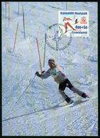 Mk Greenland Maximum Card 1994 MiNr 243 | Winter Olympic Games, Lillehammer, Norway, Skiers - Cartes-Maximum (CM)