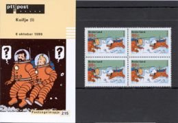 1999 Kuifjezegels Uit Postzegelboekje 59 In Mapje 215 TinTin- Postfris/MNH/** - Periode 1980-... (Beatrix)