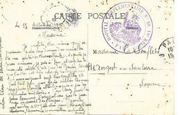 64- Cachet Hôpital Comp N°60 à Pau Sur CP En 1916- Rare - Guerre De 1914-18