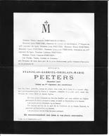 Peeters S.g.g.m. ( Doodsbrief -gesneuveld Zoutleeuw 1894- Valognes 1915) - Godsdienst & Esoterisme