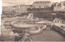 POSTAL   BIARRITZ -FRANCIA  - LE PORT DES PECHEURS ET L'HÔTEL D'ANGLATERRA - Biarritz